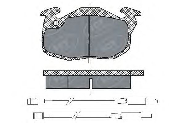 SCT Germany SP 107 PR - Brake Pad Set, disc brake