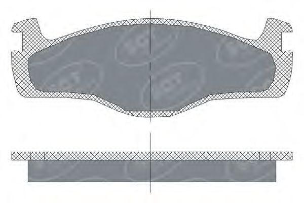 SCT Germany SP 115 PR - Bremsekloss sett