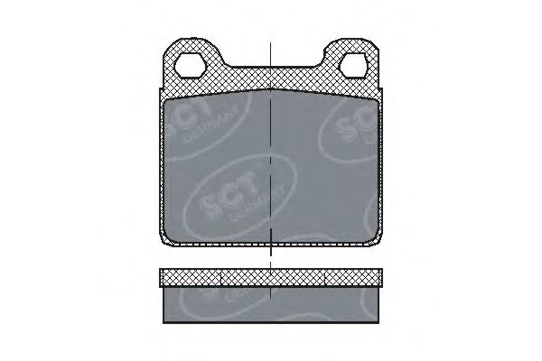 SCT Germany SP 126 PR - Brake Pad Set, disc brake