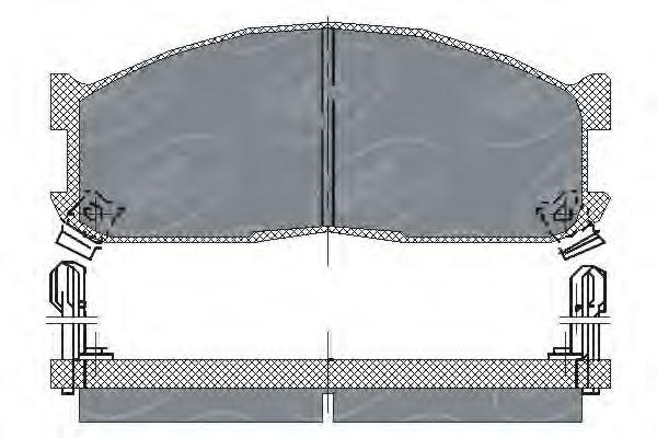 SCT Germany SP 128 PR - Bromsbeläggssats, skivbroms