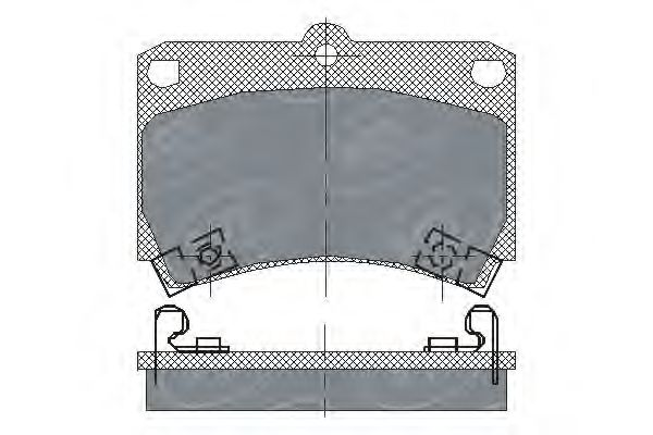 SCT Germany SP 131 PR - Brake Pad Set, disc brake