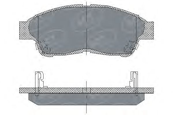 SCT Germany SP 134 PR - Brake Pad Set, disc brake