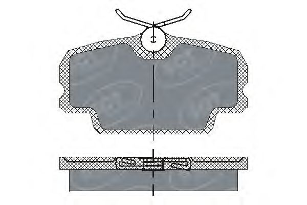 SCT Germany SP 141 PR - Brake Pad Set, disc brake
