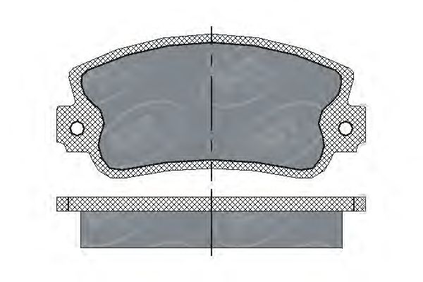 SCT Germany SP 143 PR - Brake Pad Set, disc brake