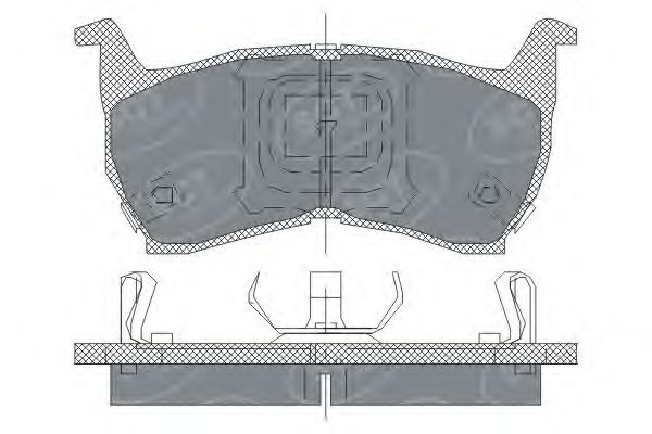SCT Germany SP 147 PR - Brake Pad Set, disc brake