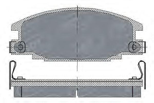 SCT Germany SP 174 PR - Bromsbeläggssats, skivbroms