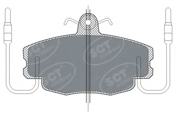 SCT Germany SP 189 PR - Brake Pad Set, disc brake