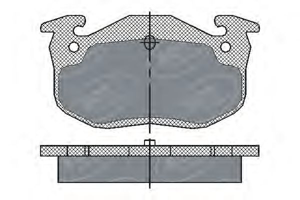 SCT Germany SP 190 PR - Brake Pad Set, disc brake