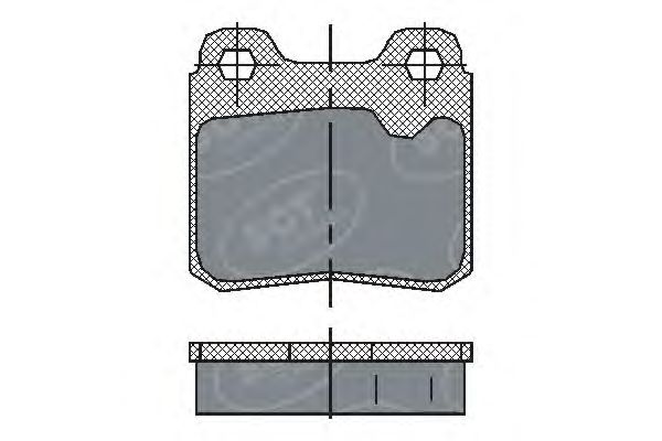 SCT Germany SP 193 PR - Brake Pad Set, disc brake