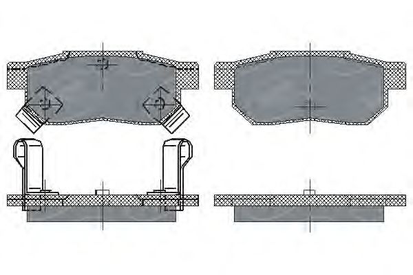SCT Germany SP 195 PR - Brake Pad Set, disc brake