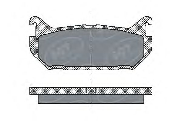 SCT Germany SP 197 PR - Brake Pad Set, disc brake