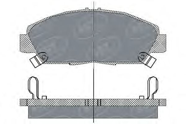 SCT Germany SP 203 PR - Brake Pad Set, disc brake