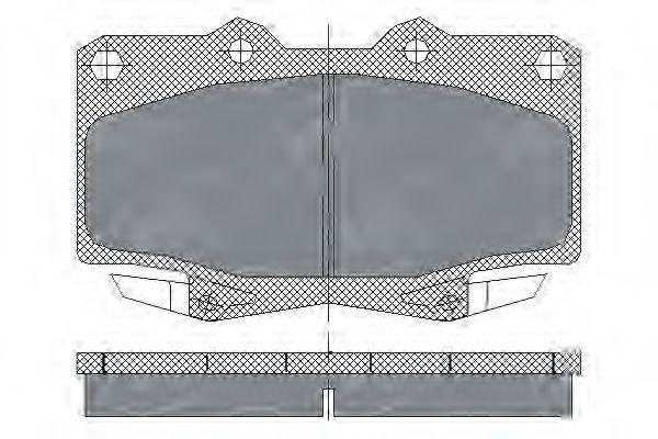 SCT Germany SP 229 PR - Brake Pad Set, disc brake