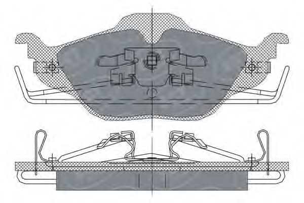 SCT Germany SP 241 PR - Brake Pad Set, disc brake