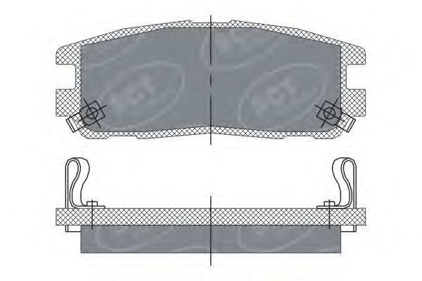 SCT Germany SP 248 PR - Brake Pad Set, disc brake