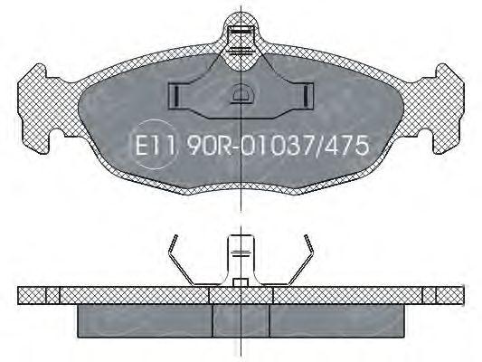 SCT Germany SP 252 PR - Bremsekloss sett