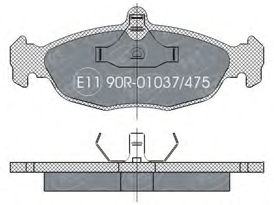SCT Germany SP 252 PR - Brake Pad Set, disc brake