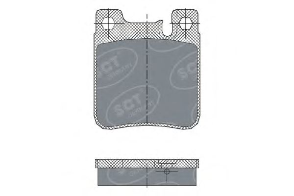 SCT Germany SP 255 PR - Brake Pad Set, disc brake