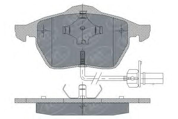 SCT Germany SP 259 PR - Brake Pad Set, disc brake