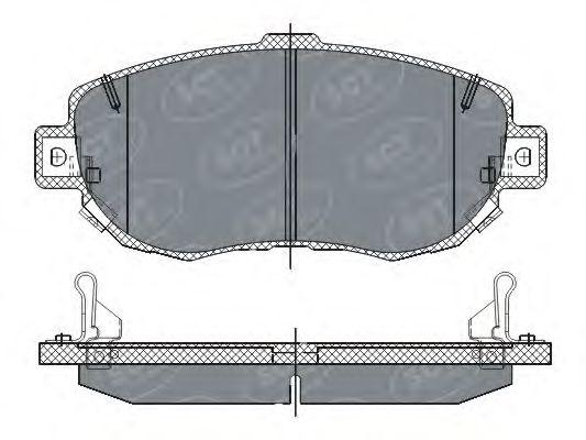 SCT Germany SP 261 PR - Bromsbeläggssats, skivbroms