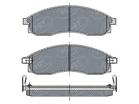 SCT Germany SP 263 PR - Brake Pad Set, disc brake