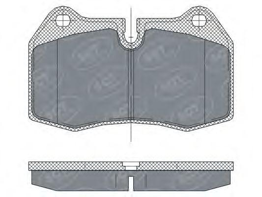 SCT Germany SP 272 PR - Bremsekloss sett