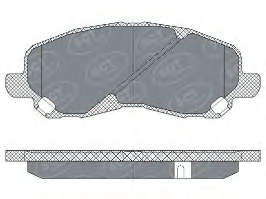 SCT Germany SP 273 PR - Brake Pad Set, disc brake