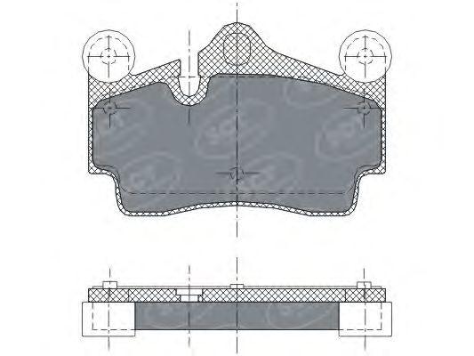 SCT Germany SP 276 PR - Brake Pad Set, disc brake