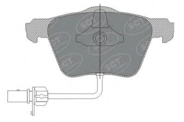 SCT Germany SP 282 PR - Brake Pad Set, disc brake