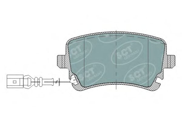 SCT Germany SP 288 PR - Brake Pad Set, disc brake
