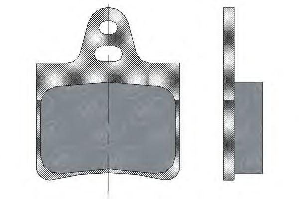 SCT Germany SP 292 PR - Brake Pad Set, disc brake