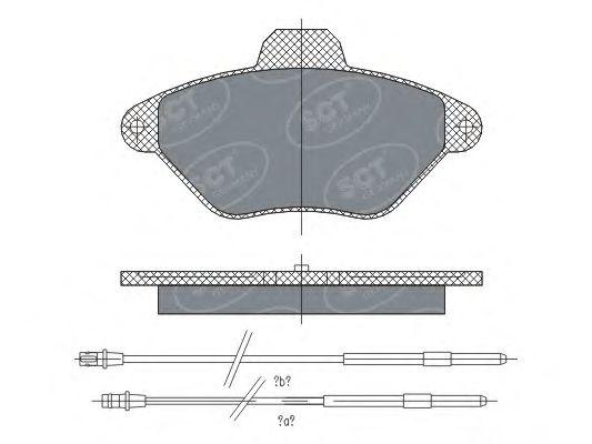 SCT Germany SP 299 PR - Brake Pad Set, disc brake