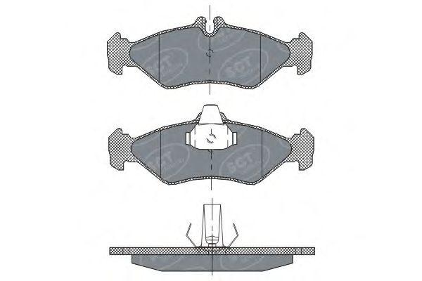SCT Germany SP 301 PR - Brake Pad Set, disc brake