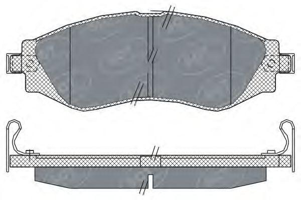 SCT Germany SP 310 PR - Bromsbeläggssats, skivbroms