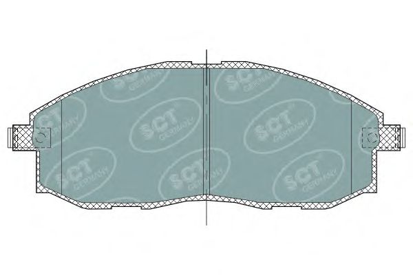 SCT Germany SP 324 PR - Brake Pad Set, disc brake