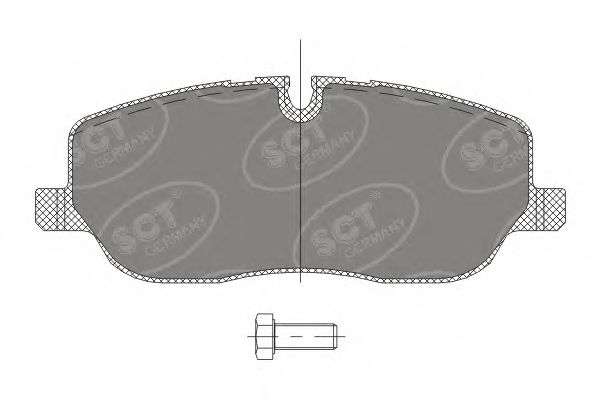SCT Germany SP 329 PR - Brake Pad Set, disc brake