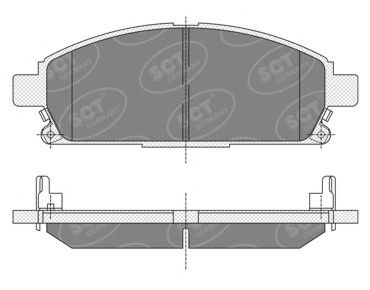 SCT Germany SP 338 PR - Brake Pad Set, disc brake