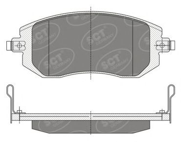 SCT Germany SP 340 PR - Brake Pad Set, disc brake