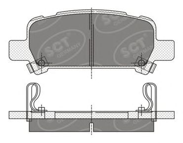 SCT Germany SP 341 PR - Brake Pad Set, disc brake
