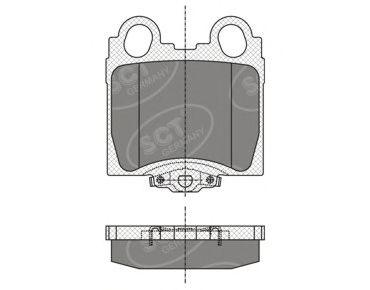 SCT Germany SP 345 PR - Brake Pad Set, disc brake