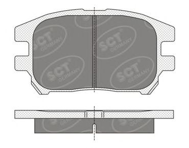 SCT Germany SP 347 PR - Brake Pad Set, disc brake