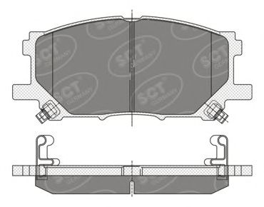 SCT Germany SP 348 PR - Brake Pad Set, disc brake