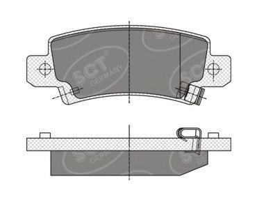 SCT Germany SP 350 PR - Brake Pad Set, disc brake