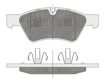 SCT Germany SP 352 PR - Brake Pad Set, disc brake