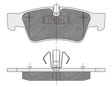 SCT Germany SP 353 PR - Brake Pad Set, disc brake