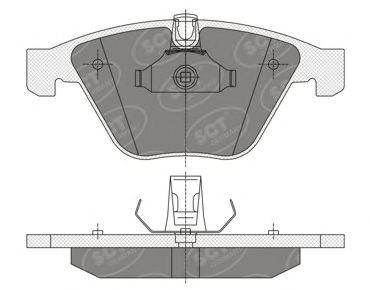 SCT Germany SP 355 PR - Brake Pad Set, disc brake