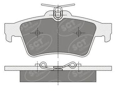 SCT Germany SP 357 PR - Brake Pad Set, disc brake