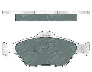 SCT Germany SP 363 PR - Brake Pad Set, disc brake