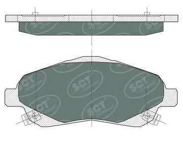 SCT Germany SP 368 PR - Brake Pad Set, disc brake