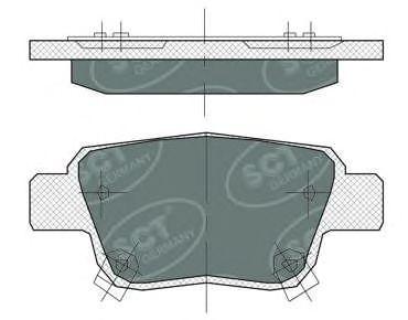 SCT Germany SP 369 PR - Bremsekloss sett